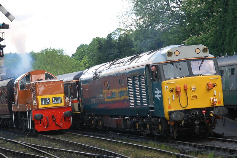 D9551 & 50008 Thunderer - Bridgnorth, Severn Valley Railway - 18 May 2017