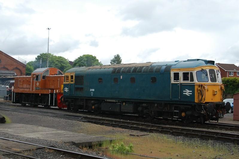 33108 & D9551 - Kidderminster, Severn Valley Railway - 20 May 2017