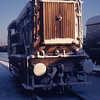 Unidentified class 08 in the yard at the RTC after a snowfall in 1976