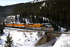 Rio Grande Heritage Unit with the Ski Train near the Tolland Colorado, February 4 2007.