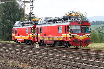 Departmental Motor Coaches MTV02-25 & MTV02-31 are returning to their base at Liptovský Mikuláš. Wednesday 6th September 2017.