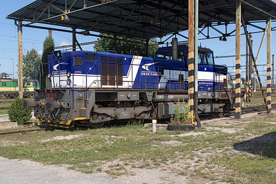 746 017 tries to catch a bit of shade at Haniska Depot. Friday 8th September 2017.
