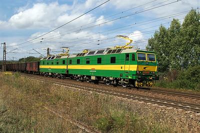 Ex works 131 091 & 131 092 provide banking assitance for 131 041 & 131 042 at Ruskov. Thursday 7th September 2017.
