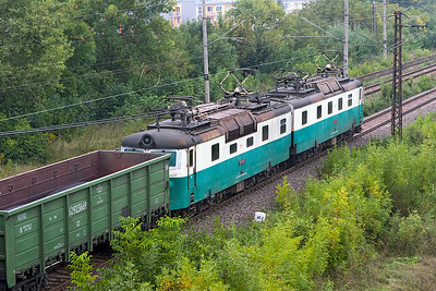 125 815 & 125 816 are the bankers for 125 831, 125 832, 125 837 & 125 838 passing Trebišov. Friday 8th September 2017.