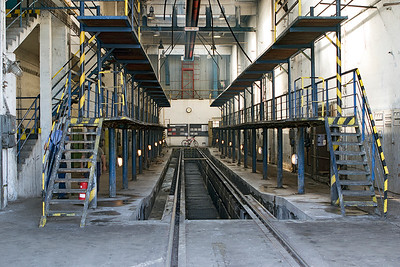 The dual gauge inspection shed at Haniska Depot. Friday 8th September 2017.