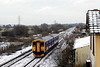Although carrying destiination blind for Barnstaple 150244 was to be found working the 1235 Paigton - Exeter Central service, the train is seen passing Exminster at 1329 on 06-02-09 with snow on tracks. Although much of Devon came to a halt the trains were running