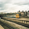 3D 1117 at London Bridge on 15/04/86 with the 17 08 departure for East Grinstead - having replaced a previously loco hauled service that week.