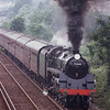 75069 storming up Ore bank with a Hastings to Ashford shuttle on 07/06/92.
