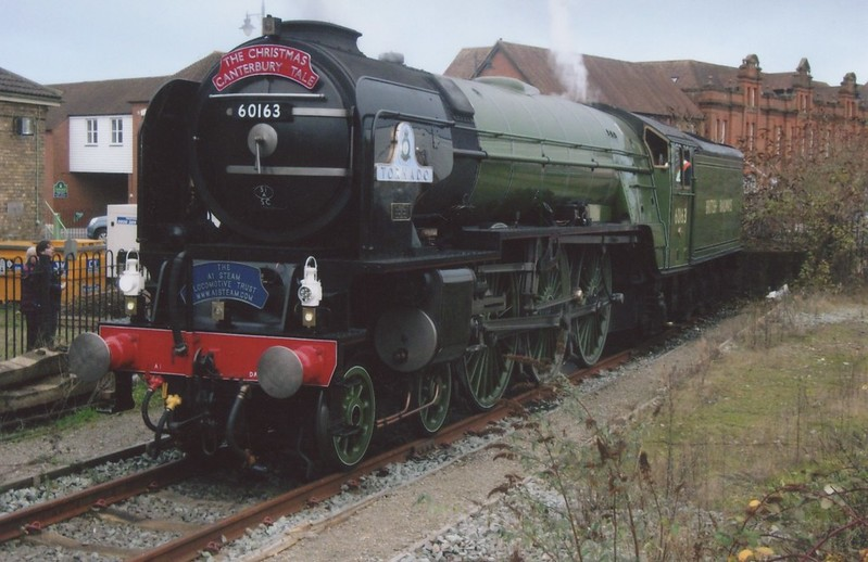 60163 Tornado resting at Canterbury West on 12/12/16 whilst working a circular Christmas trip from London.