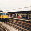 A rather poorly aligned shot of 73206 passing through Ashford on 20/06/91 with the 11 00 VSOE Victoria to Folkestone Harbour.