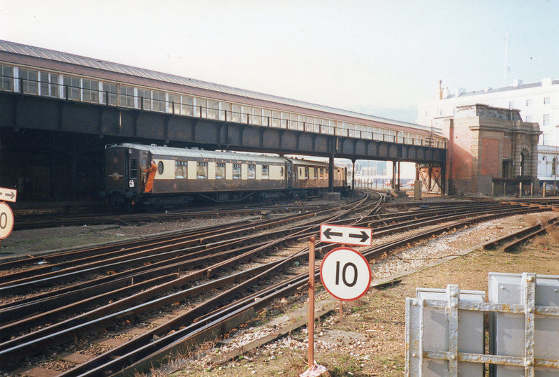 VSOE being propelled at Dover Western Docks (by 09011) on 27/02/92.