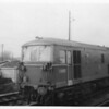 Modern (at the time) E6002 Electro-diesel at Ashford Up Sidings on 23/11/63. She was one of the first six (JA's) whom were unable to multiple with the other 43 (JB's) - and were a pain to diagram.