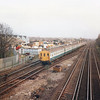 A Sevenoaks to Charing X EPB service approaching Hither Green on 01/12/92.