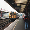 A 4 CEP on a Victoria to Dover stopper at Canterbury East on 24/09/94 - with a Dover Western Docks destination board.