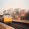 Bromley South sees the arrival of the 07 26 Reading to Dover Western Docks on 14/04/87 with 47491.