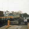 47317 on an engineering train at Orpington at that station's remodelling in Spring 93.