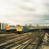 33042 leads the 17+15 from New Cross Gate into London Bridge on 15/04/86.