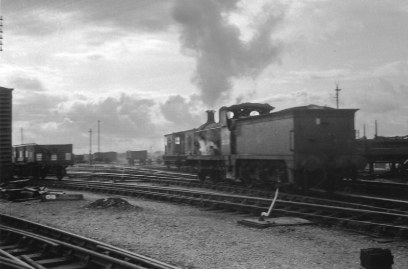 "Ex SR C Class 0-6-0 DS239 (formerly 31592) on 03/03/66 at Ashford Works - caught in camera whilst on a ""route learning"" trip having just joined the SED HQ at Queen Street."