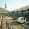 About to enter the Chunnel on 18/11/93 with a loco hauled stock being propelled as far as the first air vent.