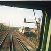 A passing class 60 near Clapham in November 92 - taken from the cab of a Class59.