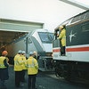 Coupling up a 47/8 to 9005 (Le Shuttle failed and a Class 90 replaced it!) at Dollands Moor on 18/11/93.
