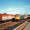 33051/2 passing through Tonbridge on 20/09/89 with 6C82 13 59 Sevington to Grain.