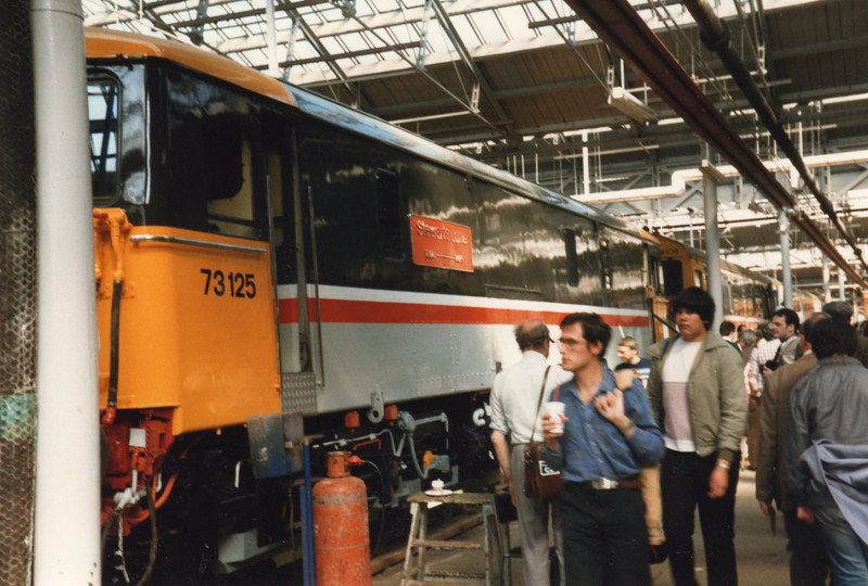 73125 (having been named Stewarts Lane on the day) at the open day on 22/09/85.