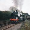 Having just secured a free ride from Hastings with 30828 she departs Battle (water stop) on 19/10/93.