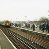 4 VEP leading at Orpington on a London commuter service in the Spring of 93.