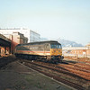47846 running LE ex Town Yard into Western Docks station at Dover on 27/02/92.