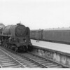 Banbury's 9F 2-10-0 92132 crawls through Basingstoke on 02/07/65 with a southbound freight. She was subsequently transferred to Kingmoor from where she was withdrawn in November 67.