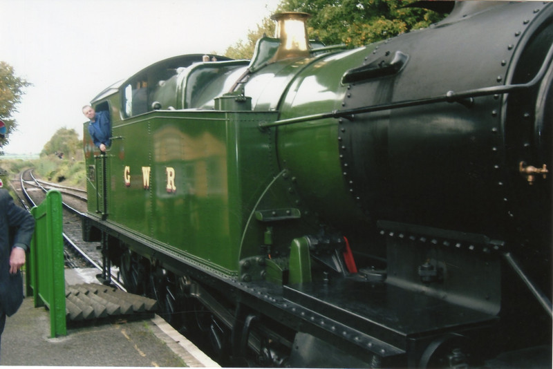 The best I shot could get (the place was heaving!) of visiting 2-8-0T 4270 - seen here at Ropley preparing to depart with the 11 30 Alton to Alresford on 25/10/14.
