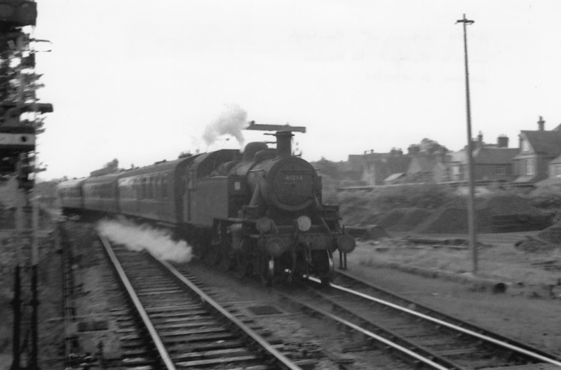Just weeks to go before line closure Ivatt 41294 arrives into Cranleigh on 19/05/65 with a Horsham service. All 70C's Mickeys were transferred to Eastleigh from where she would be withdrawn in August 66.