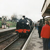 Maunsell Mogul N class 31625 arrives at Ropley on 01/03/97.