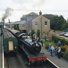 An all action scene at Ropley in September 08 with 4936 Kinlet Hall arriving on a westbound train.