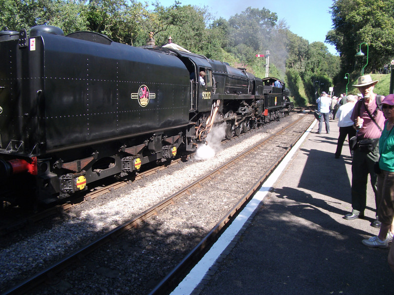 5322 & 92212 at Medstead with the 13 00 Alresford to Alton on 07/09/12.