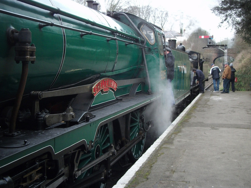 The Mid Hants Railways Spring Gala day on Saturday 02/03/13 sees Schools 30925 Cheltenham and T9 30120 at Alresford with the 14 10 for Alton