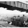 N Class 31408 running light engine past the Aldershot departure platform at Guildford on 19/05/65.