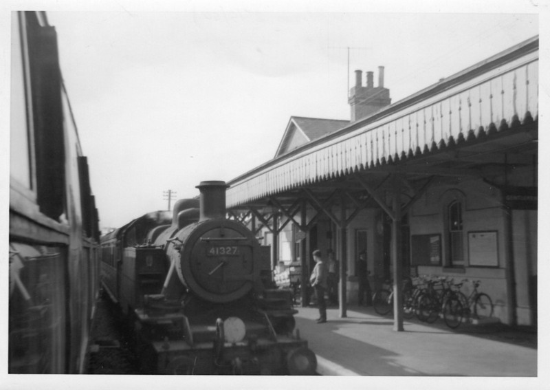 An undated 1963 photograph taken at Cranleigh during an unrecorded track bash - 41327 was a Brighton loco and was withdrawn in May 64.