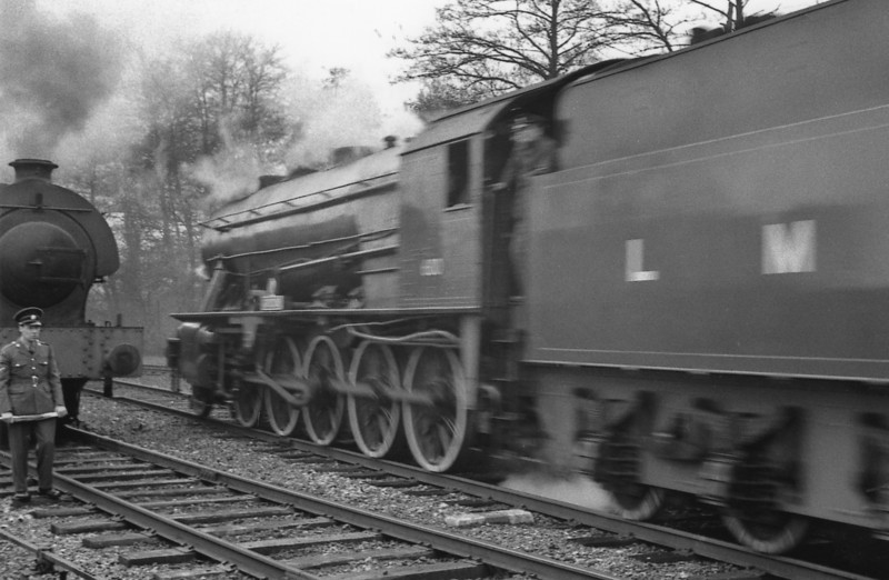 Rail tour activity at Longmoor.