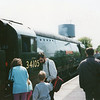 Withdrawn from Eastleigh in September 65 34105 Swanage is at Alton in May 93.