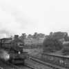 Oxford's Modified Hall 6991 Acton Burnall Hall runs light engine through Basingstoke on 11/09/65 - surviving only until the WR cull of that December.