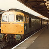 The last loco operated Kenny Belle (DMU from the following week) - the 08 46 Clapham Junction to Kensington (Olympia) with 33208 on 01/10/82.