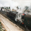 Ex LMS Pacific 46229 Duchess of Hamilton departs Ropley on 01/03/97.