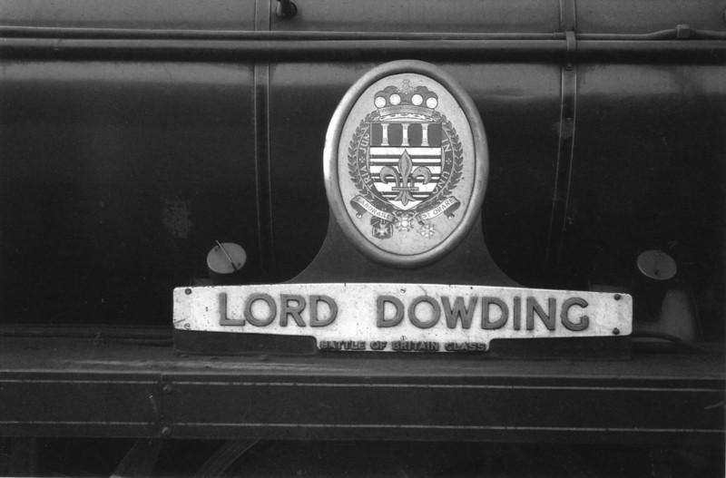 The immaculate Salisbury based 34052's nameplate.