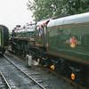 71000 Duke of Gloucester, withdrawn at Crewe North in November 62, runs round at Alton.