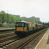 73108 passes Kensington (O) on 28/04/93 with the 09 55 Tonbridge West Yard to Willesden.