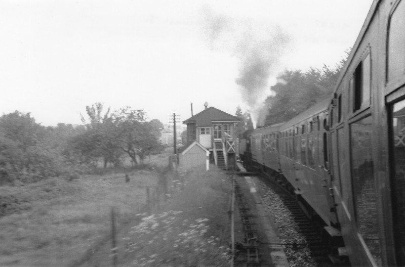 Token exchange at Peasemarsh Junction with the driver on the 18 15 Horsham to Guildford.