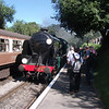 Taken on a very crowded platform - Schools 30925 Cheltenham arrives into Medstead on 07/09/12 with the 13 15 Alton to Alresford.