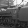 Probably taken from a moving train Nine Elms allocated Standard 5MT 73087 Linette was working an up parcels service on 30/06/64 going under West London Junction signal box.